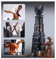 New 16010 2430Pcs Lord Of The Rings The Tower Of Orthanc Model Building Kits Blocks Bricks