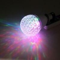 ファッションe27 ledディスコライトマジックrgb電球フルカラー3ワットクリスタル舞台照明効果のためのホームパーティー