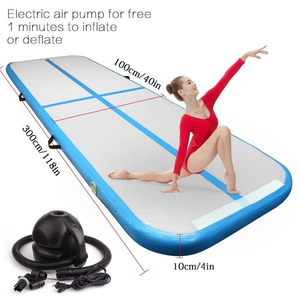 Inflatable Gymnastics Airtrack Tumbling Mat Air Track Floor Mat with Electric Pump Home Use/Training/Cheerleading/Beach/WaterInflatable Gymnastics Airtrack Tumbling Mat Air Track Floor Mat with Electric Pump Home Use/Training/Cheerleading/Beach/Water