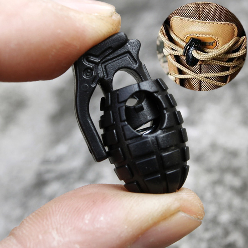 10 Pcs/Lot Shoelace Buckle Clip EDC Gear Tactical Outdoor Hiking Boots Shoes Shoelace Tightening Non-Slip Buckle