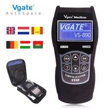 Universal Auto Del Explorador OBD2 Vgate VS890 Maxiscan Lector de Código de Avería de Diagnóstico PK VS-890 Scan Tool ELM327 V1.5 OBD 2 OBDII VS 890