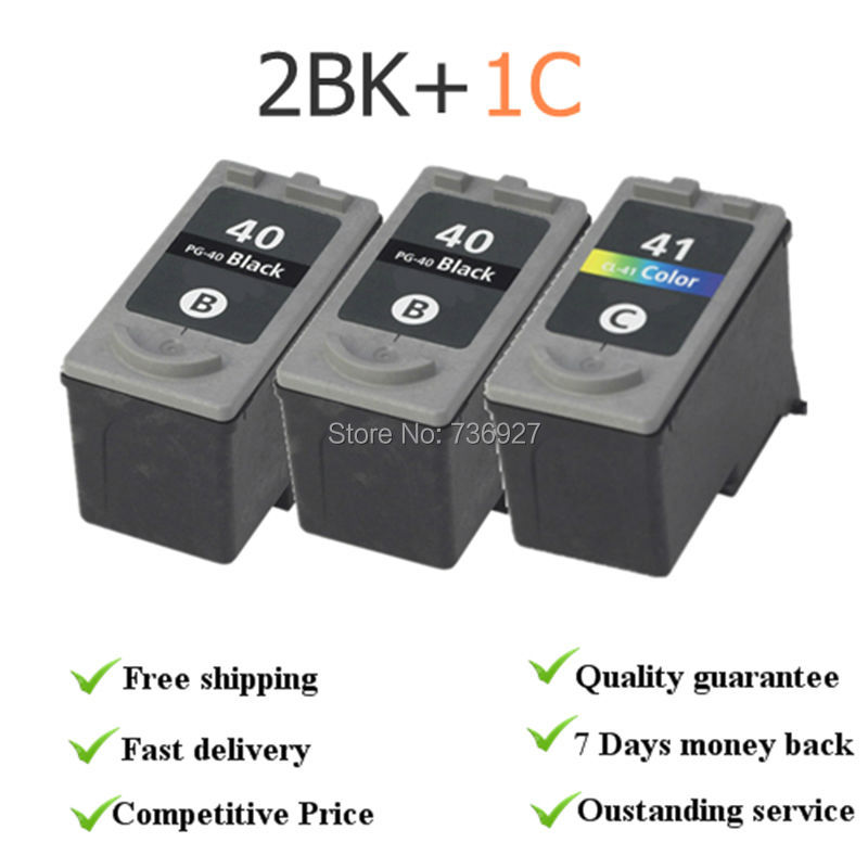 3X Remanufactured Ink Cartridge PG40 CL41 PG-40 CL-41 For Canon PIXMA iP1700 iP1800 IP1900 MP470 MP450 inkjet printer 3x remanufactured ink cartridge pg40 cl41 pg 40 cl 41 for canon pixma ip1700 ip1800 ip1900 mp470 mp450 inkjet printer