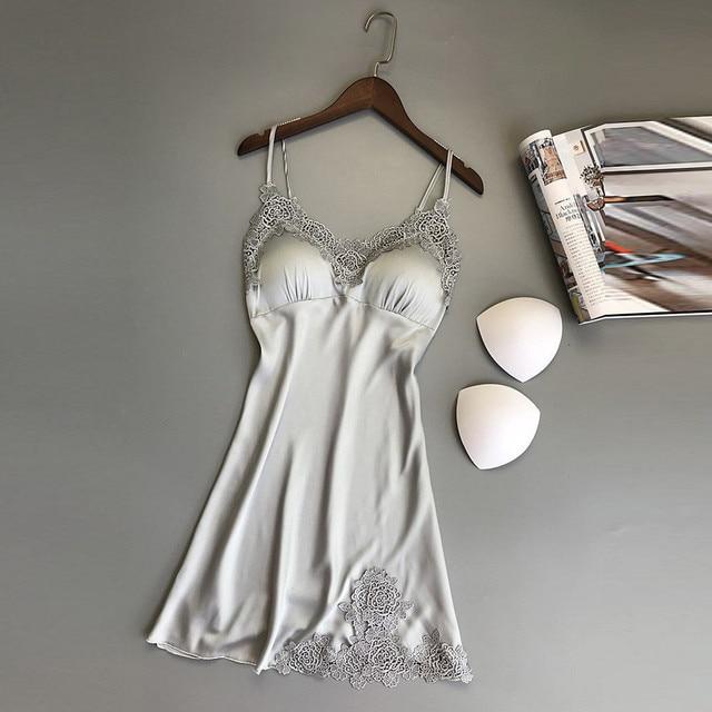 Talla grande ropa de dormir sexy vestido de noche Lencería camisón ropa de dormir mujer seksi bayan gecelikler