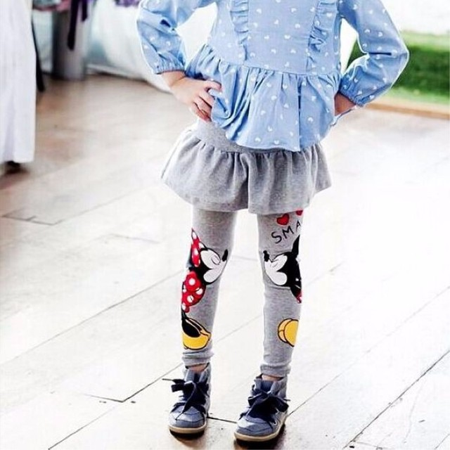 New 2019 Autumn Winter Toddler Baby Kids Girls Mouse Skirt Pants Leggings Children Spring Autumn Clothes Cartoon Leggings