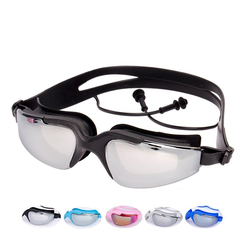 Professional Swimming Goggles Men Women Waterproof Anti Frog UV Protection Outdoor Sports swiming glasses eyewear with earplugs