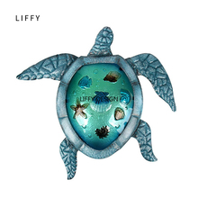 Liffy Turtle Metal Glass Wall Art for Outdoor Decoration Garden Ornaments and Home Gardening Statues  Yard