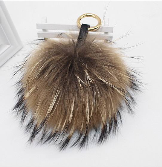Big 15cm Fluffy Real Fox Fur Ball <font><b>Pom</b></font> Poms Natural Fur Pompom Leather Strap Keychain <font><b>Key</b></font> Chain <font><b>Ring</b></font> Pendant For Women Charm f278 image