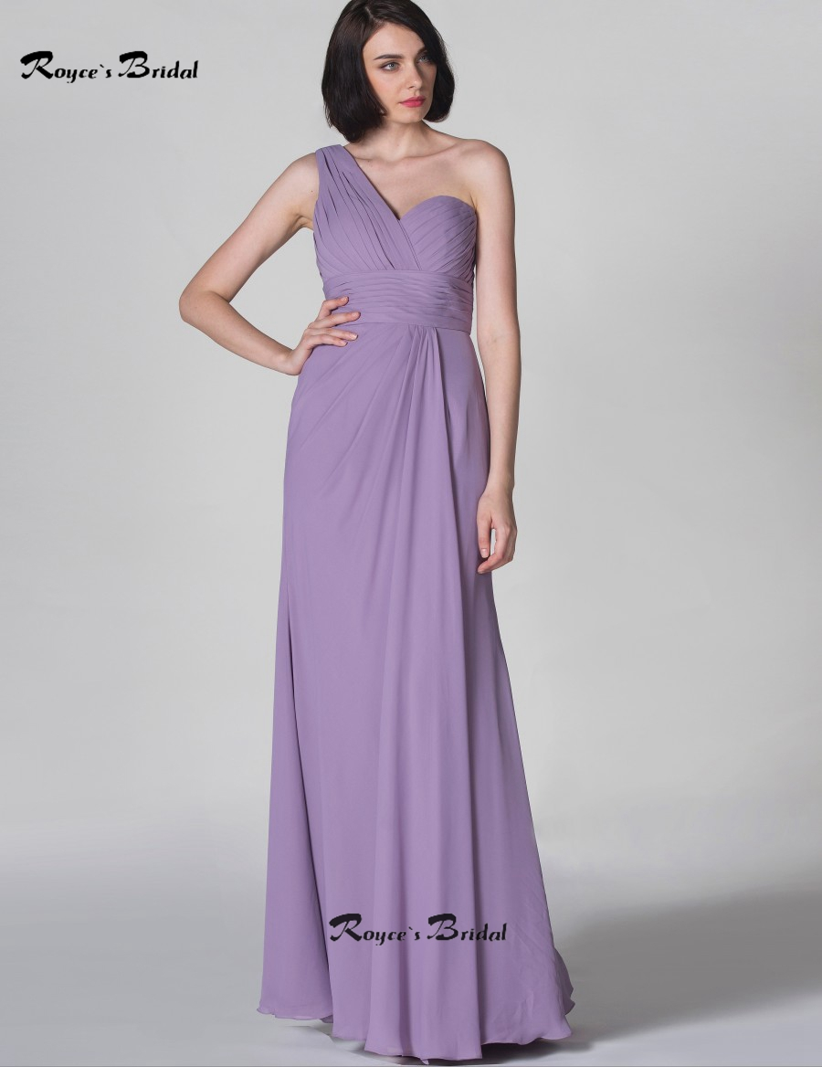 Popular lilac one shoulder bridesmaid dress buy cheap lilac one royces bridal long bridesmaid dresses one shoulder lilac floor length chiffon maid of honor dress gowns ombrellifo Choice Image