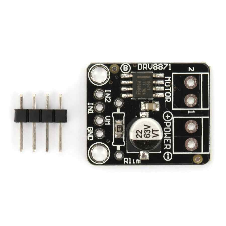 DRV8871 H-Puente cepillado DC controlador de Motor PWM Módulo de placa de Control para Arduino 3.6A 6,5 V a 45V