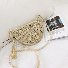 Women Vintage Beach Straw Bag Ladies Handmade Woven Rattan Messenger Handbag Summer Bali Bohemian Crossbody Shoulder Bag #j3s(China)