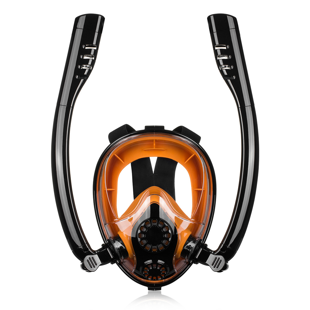 Formation Snokel plongée sous-marine étanche Silicone plein visage Sports été Anti-buée masque de plongée sous-marine sec natation plongée en apnée outil