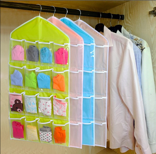 Home Underwear Closet Pouch Baby Nappy Bag Toy Socks Case Dustproof Bags Foldable Basics Fabric Storage Box Case