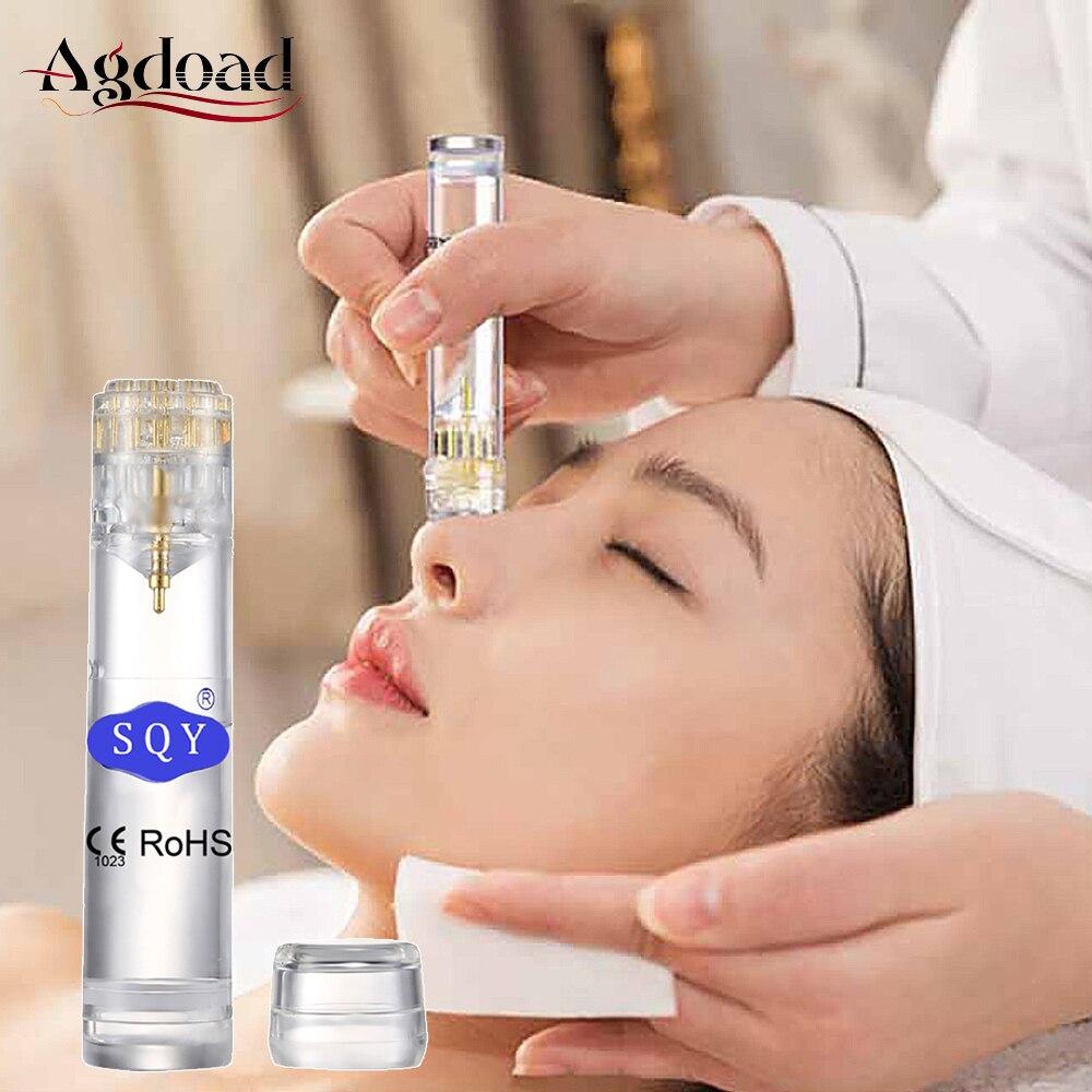 Derma Roller Needle Titanium Gold Derma Stamp For Women Beauty Facial Skin Care Micro Needles 0.25mm Dermaroller Face(China)