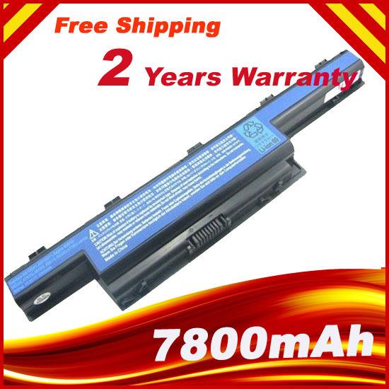 9 células 7800 mAh batería para ACER Aspire 5750 5750 G 7551 7551 G 5336-2283 5336-2460 5336-2524, envío gratis