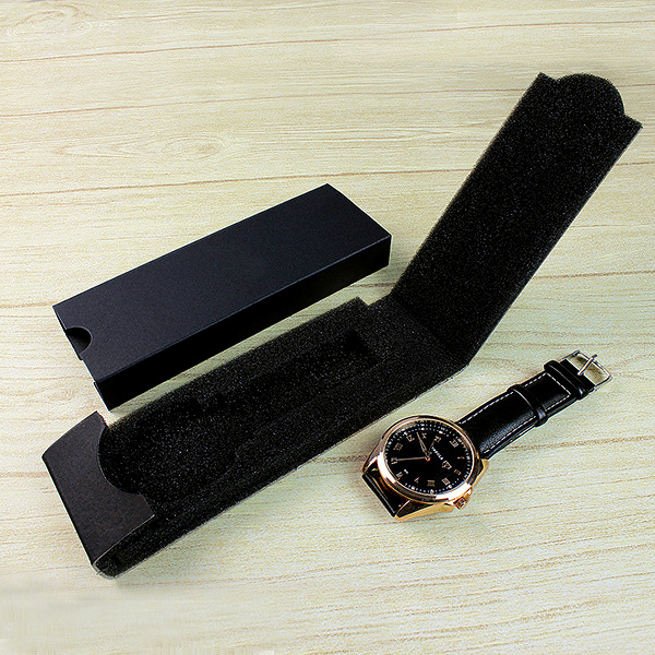 New simple design watch box packaging gift watch accessories box watches folding box black Original design patent boxes watch