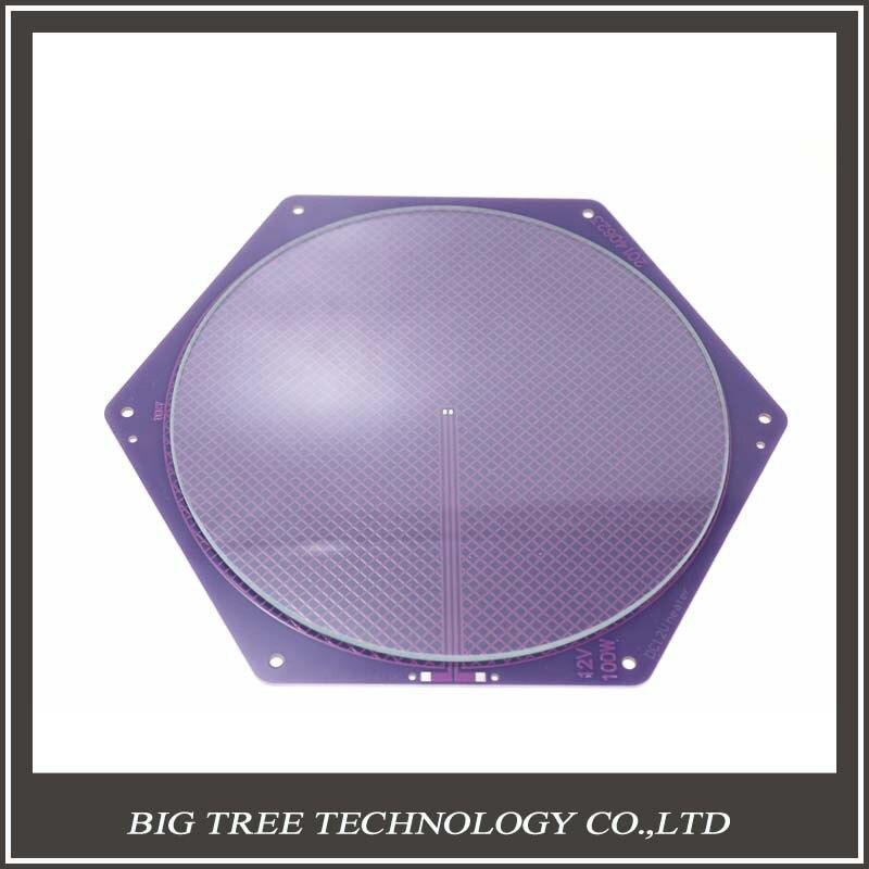 ФОТО Kossel Delta Rostock  Hotbed  PCB 12V 120w 170/200mm Purple Reprap Seemecnc MK2A /2B +200*3mm Round Plate Borosilicate Glass kit