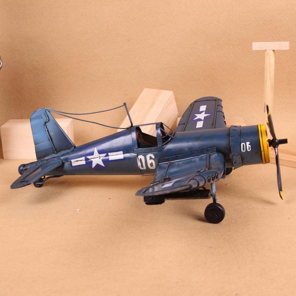 Vintage Metal Plane Model Glider Biplane Pendant Retro Second World ...