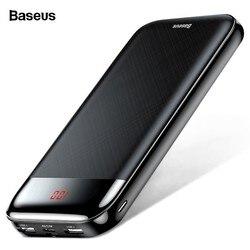 Baseus 20000 mAh Banco de la energía para el iPhone Xiaomi portátil 20000 mAh Powerbank batería externa USB C de carga del cargador de carga de Poverbank