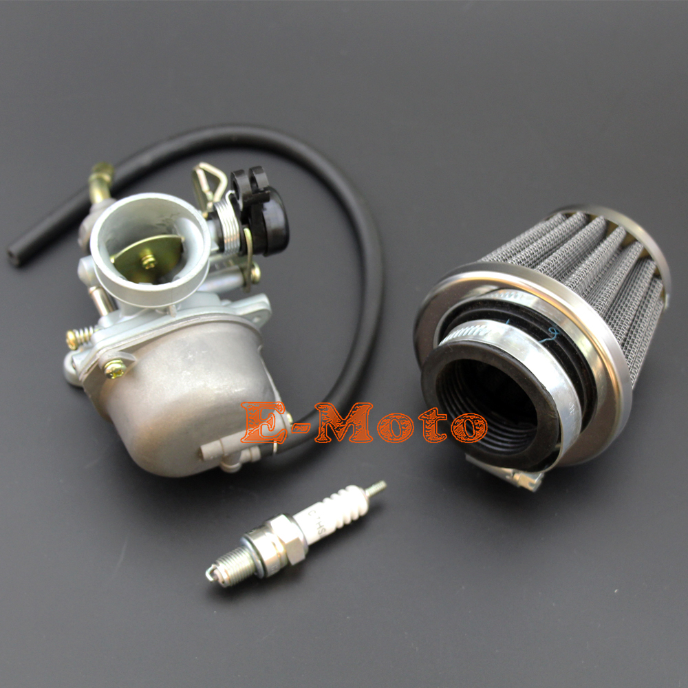 PZ19 Carburetor 35mm Air Filter Spark Plug 50cc 90cc 110cc 125cc ATV dirt bike