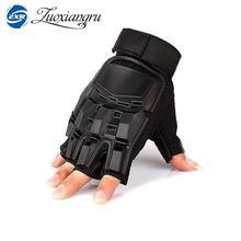 Военная полиция солдат Пейнтбол перчатки для улицы армейская боевая подготовка тактические перчатки для мужчин половина пальца Спортивная Охота Велосипед