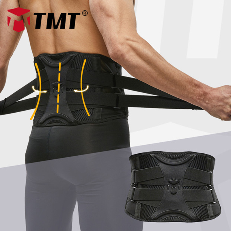 TMT Gym Lumbar Waist Support Adjustable Waist Trimmer Belt Back Exercise Weight Loss Body Shaper Fitness Slimming Belt