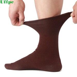 Image 1 - 5 paren/partij Mannen Sokken Katoen Lange Goede Kwaliteit Business Harajuku Diabetische Pluizige Sokken Meias Masculino Calcetines geen doos