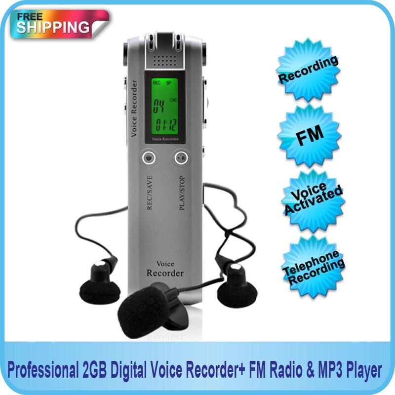 HNSAT Профессиональный 4 ГБ цифровой Голос Аудио USB Регистраторы диктофон с MP3-плееры Функция + FM Радио Бесплатная доставка!