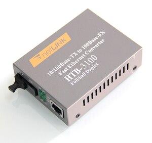 Image 4 - 1ペアHTB 3100 HTB 3100A/b 25キロnetlink 10/100メートルのシングルモードシングル繊維wdm繊維メディアコンバータa 1310nm TX、b 1550nm TX