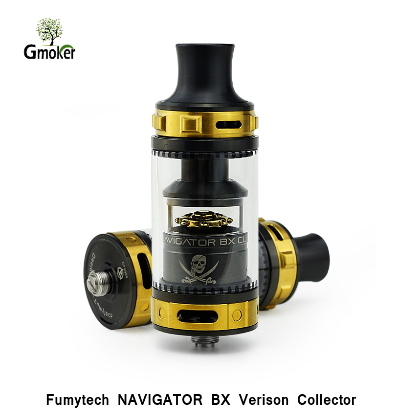 Original Fumytech NAVIGATOR BX CL RTA electronic cigarette atomizer rta vape tank vaper for box mod CL rebuildable atomizer ggmm alauda earphones with microphone in ear metal earphones music headets wired earphone hands free sports earphone for phone