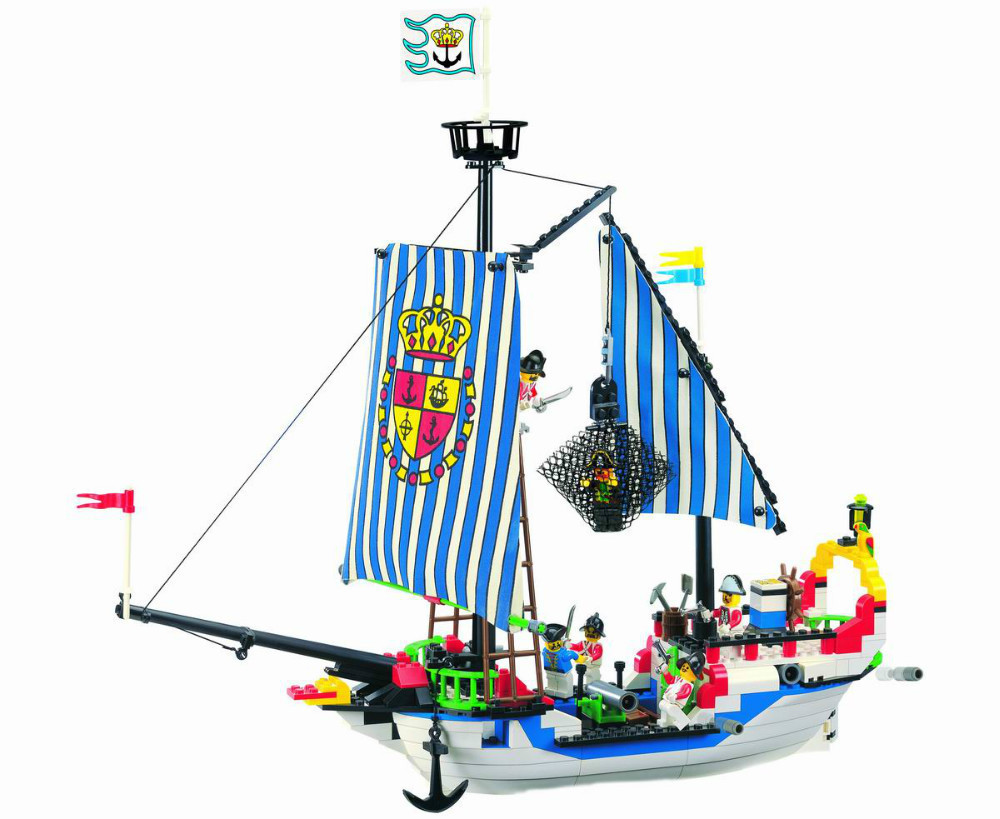 Enlighten 310PCS Pirate Series Caribbean Pirate Ship Royal War Ship Building Blocks Toys For Children Sets Compatible With Legoe lepin 16002 pirate ship metal beard s sea cow model building kit block 2791pcs bricks compatible with legoe caribbean 70810