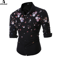 2017 Spring Autumn Features Shirts Men Casual Jeans Shirt New Arrival Long Sleeve Casual Slim Fit
