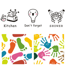 Creative Cute pattern Wall/Switch Sticker bathroom kitchen living room switch for home decoration art decals vinyl Stickers