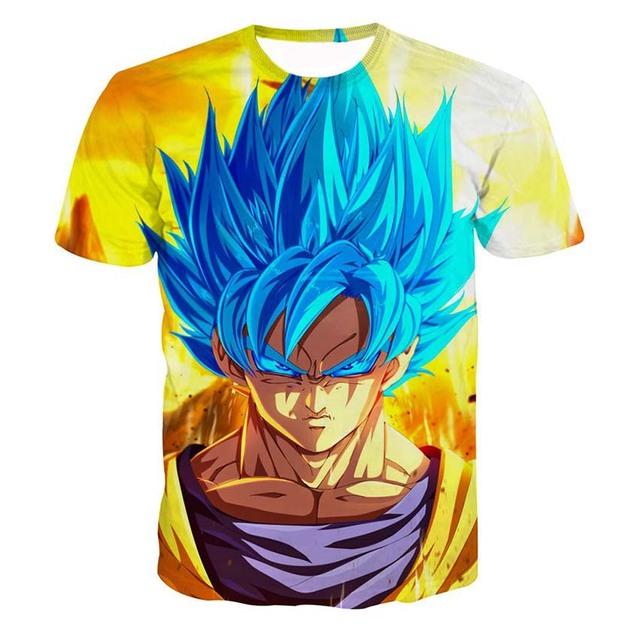 Goku Saiyan Blue 3D T-Shirts