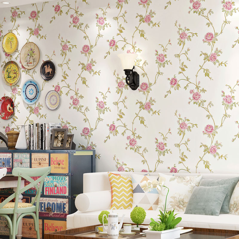 Beibehang European modern flower desktop wallpaper roll papel de parede 3D wall paper for living room flooring contact-paper beibehang velvet modern damask feature papel de parede 3d wallpaper wall paper roll for living room bedroom tv backdrop