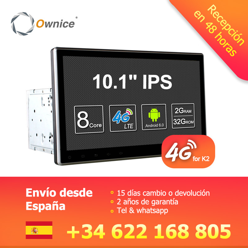 Ownice C500 10.1 Universal 2 din Voiture dvd radio Lecteur Navigation GPS Android 6.0 Octa Core 4g LTE 2 gb + 32 gb DAB + TPMS Carplay