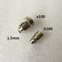 цена Hafnium P80 Nozzle 1.5 mm Electrode 70A - 80A  Feimate Air Plasma Cutting Torch Consumables 200pcs SALE1 онлайн в 2017 году