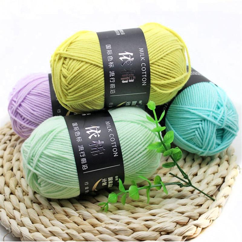 30pcs Crochet Yarn Knitting Needle 3mm Cotton Yarn Blended Hand Knitting Yarn Thread 4 PLY