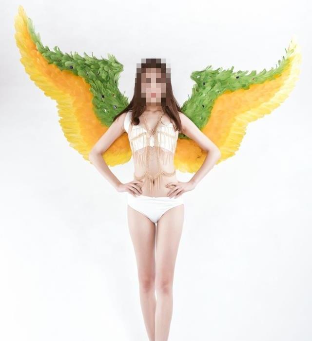 Цвет Крылья Ангела Хэллоуин костюм модель для фотографирования, t сценическое шоу, свадебное крыло костюм, реквизит вечерние costplay украшения