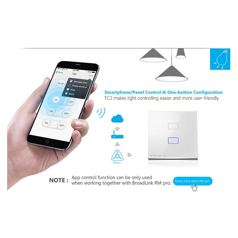 Broadlink EU Standard 3 Gang Wireless Remote Control Light Switches ...