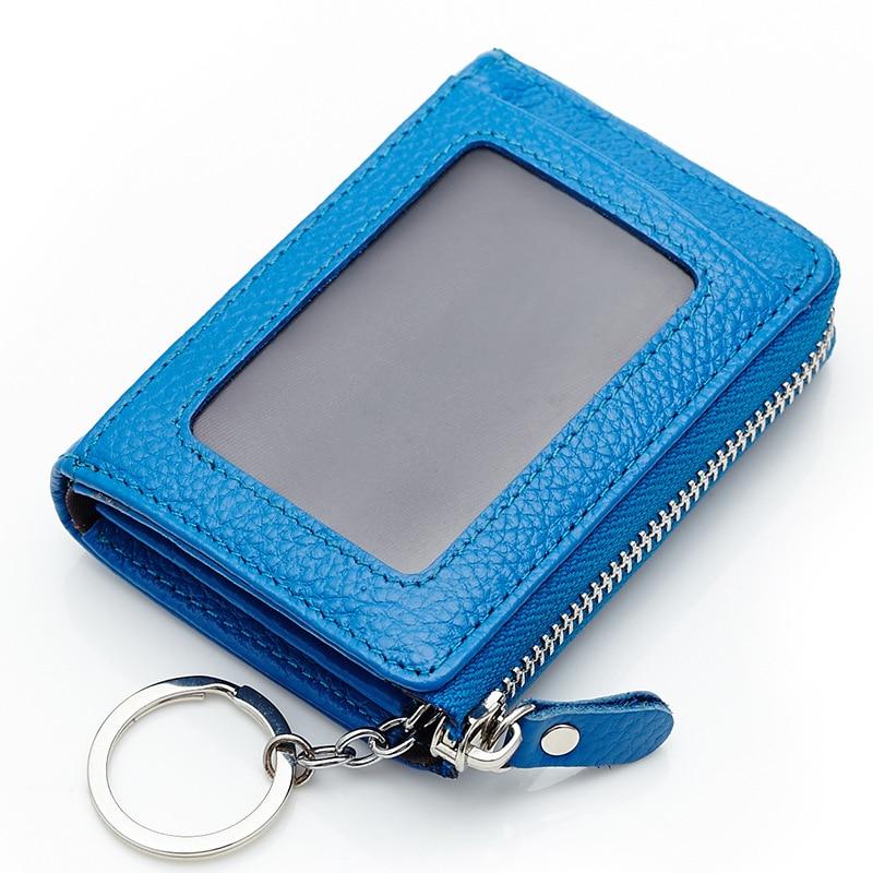 Unisex Key Wallets Card Holder Wallets Female Women Mini Wallet Leather Key Holder Purse Casual Male Men Pocket Car Key Wallet