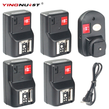 YINGNUOST 4 Channel Wireless Remote Radio Flash Trigger + Four PC Receivers for Canon Nikon Yongnuo Camera Universal Hot Shoe(China)