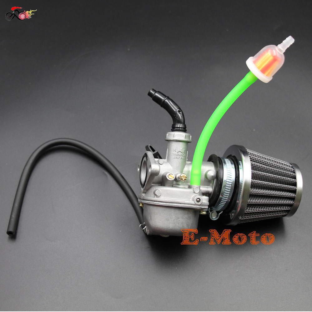 brand new 19mm carburetor assembly with air fuel filter fule tube for 50cc 70cc 90cc 110cc 4 stroke chinese atv dirt pit bike go kart [ 1000 x 1000 Pixel ]