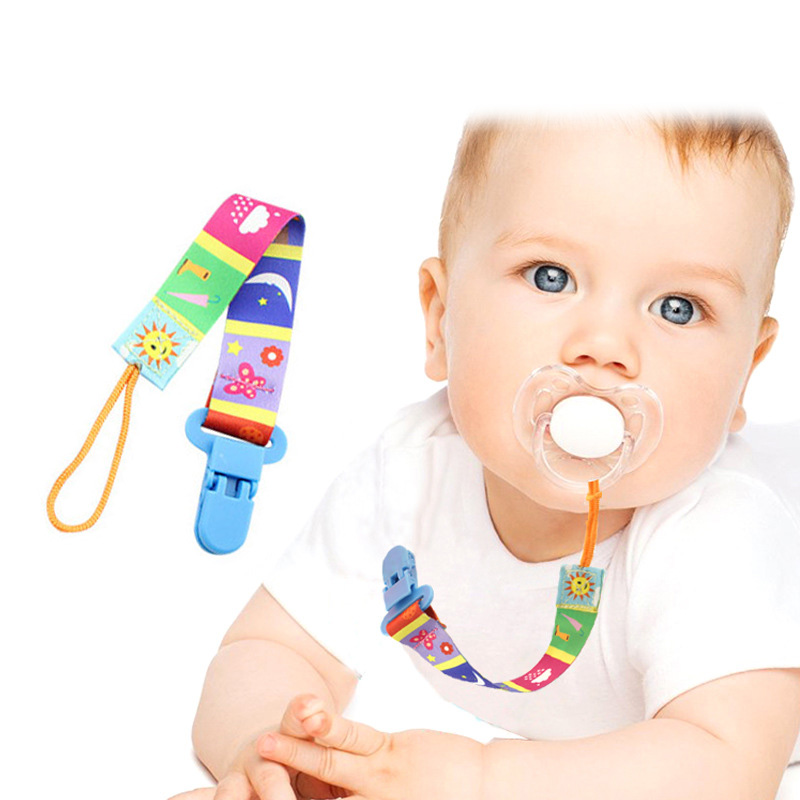 Newborn Baby Pacifier Clips Chain Nipple Holder Belt Teether Clip Strap Baby Safe Soother Chain For Infant Feeding BM88