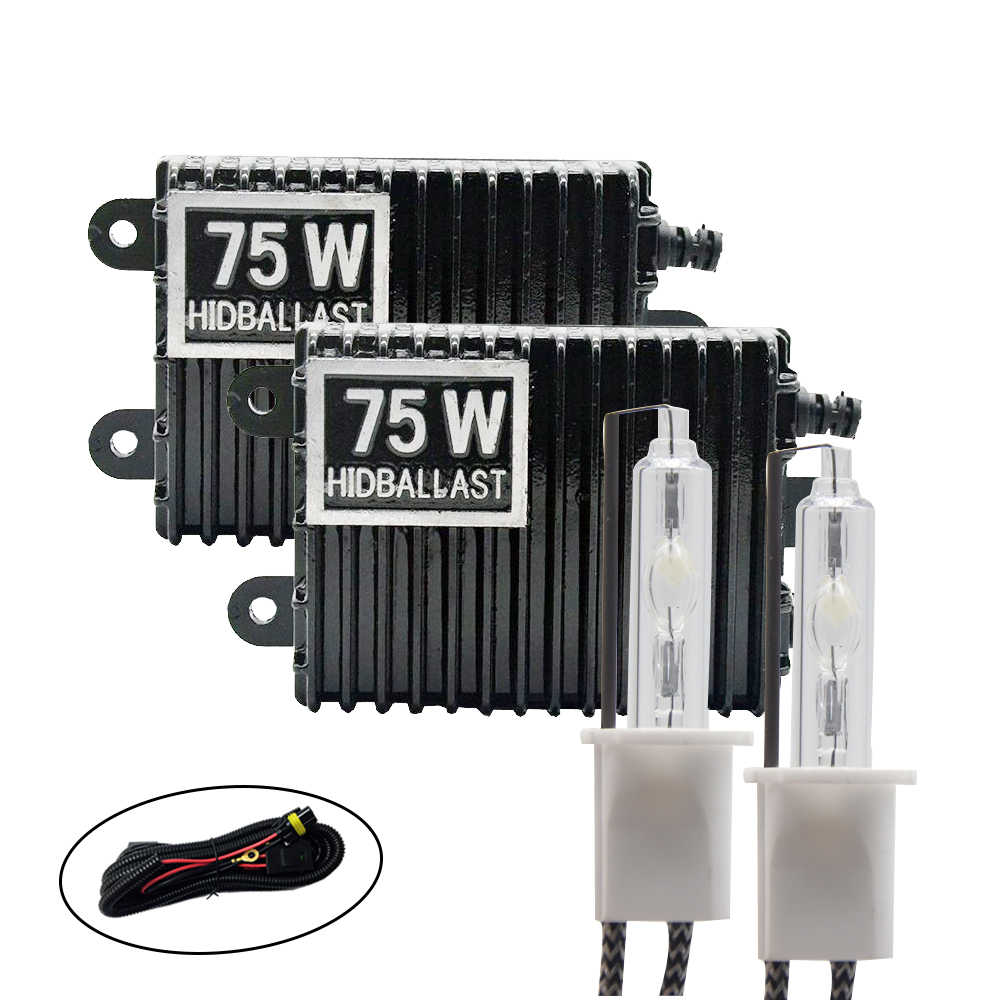 TPTOB 75 W kit Lastro lâmpada HID Xenon Luz 12 V H1 H3 H7 H11 9005 9006 4300 k 5000 k 6000 k 8000 k Auto Farol Lâmpada Xeno