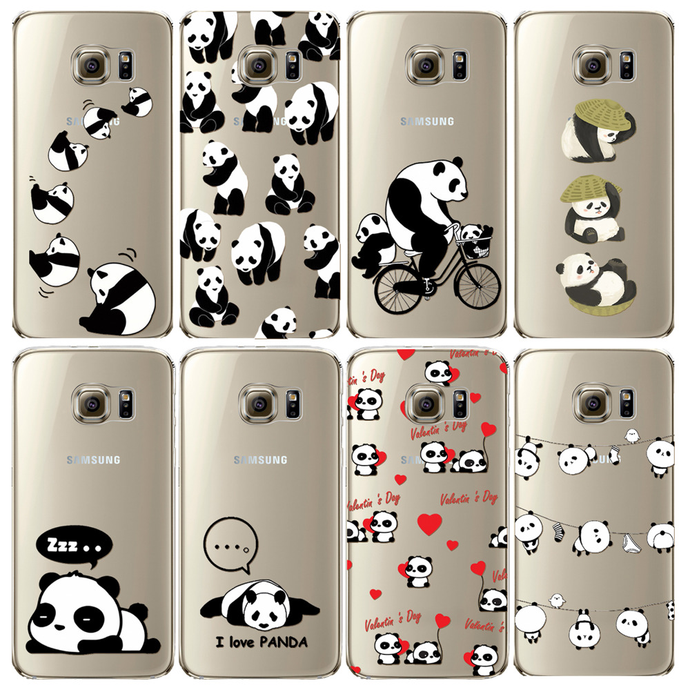 cheap for discount 9a2f2 d87f3 US $2.4 |Aliexpress.com : Buy lovely China animal panda Case For Samsung  Galaxy S7 Soft TPU Transparent Silicon Mobile Phone Cover Coque Capa Para  ...