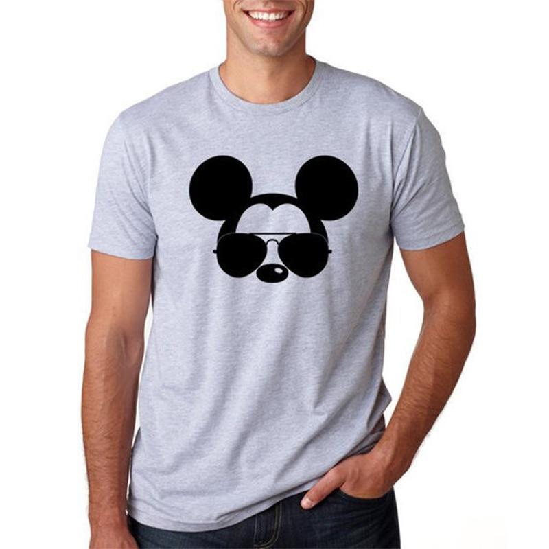 T Shirt Men Mickey Mouse Tshirt Plus Size Harajuku Shirt T-shirt Funny T Shirts Graphic Tees Men Streetwear Plus Size XS-3XL AG2R La Mondiale 2019