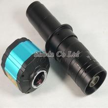 Бесплатная доставка HD 2.0MP 2 in1 Цифровой Промышленной Камеры Микроскопа + 180X C-креплением для ПЕЧАТНОЙ ПЛАТЫ лабораторное VGA CVBS AV TV выходы