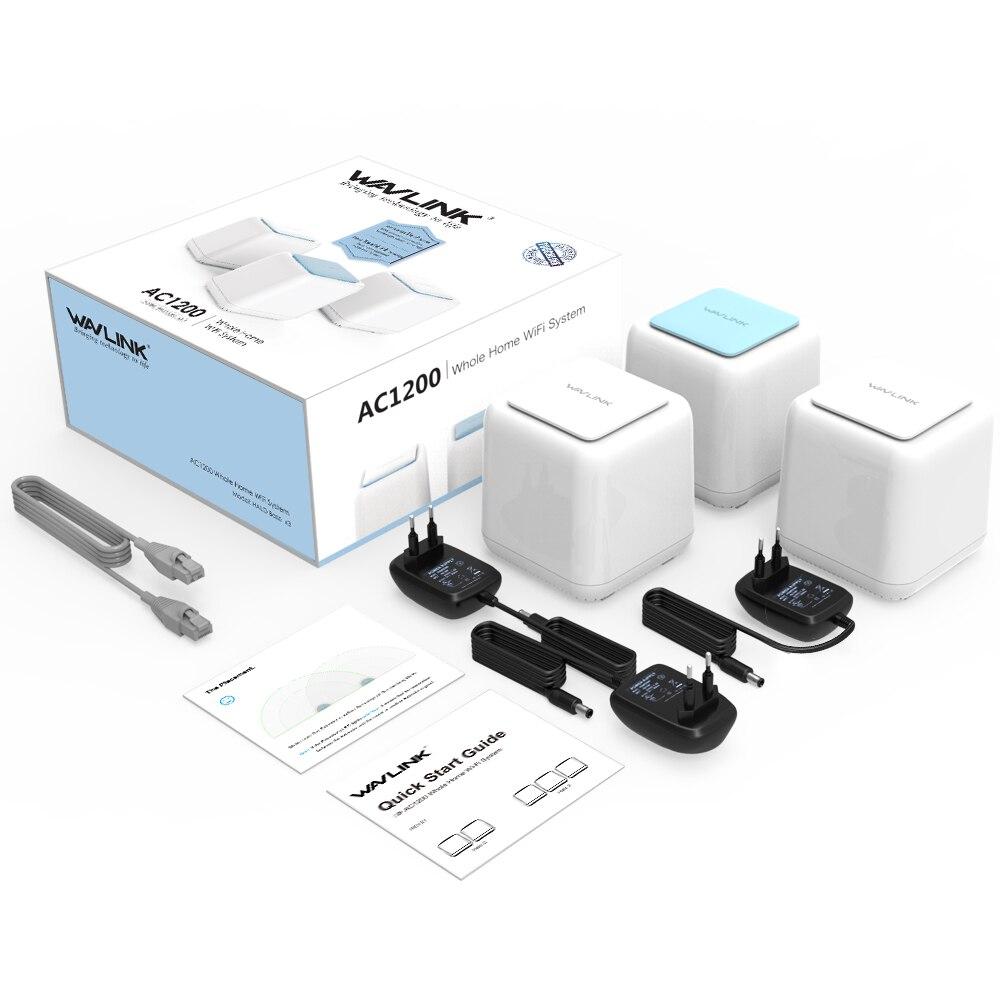 Routeur WiFi sans fil Wavlink système de couverture Wifi à domicile entier maille 1200Mbps 2.4G/5GHz WiFi répéteur sans fil APP à distance gérer l'ue - 6