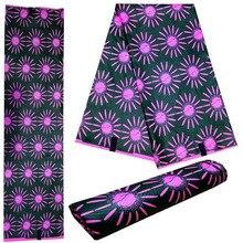 Hollandais Wax 6 yards Super Wax Hollandais 2018 African Dutch Wax African Wax Cloth Polyester Embossed Printing DIY Fabric