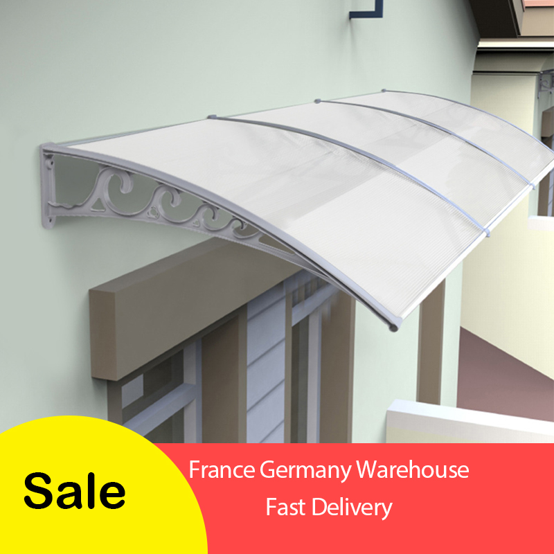 Multi-size Durable Door Canopy Awning Poly Carbonate Door & Window Awning For Outdoor Entrance Door-window Canopy Awning HWC